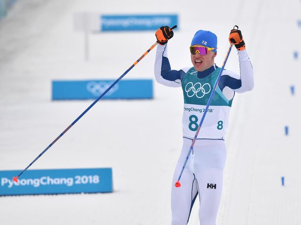 Iivo Niskanen pääsi tuulettamaan Pyeongchangissa uransa toista olympiavoittoa.