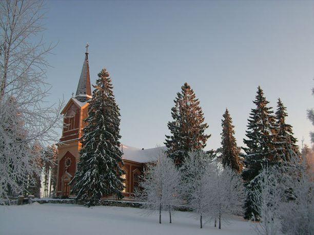 Kontiolahden kirkko, minne mennään taas joulukirkkoon.