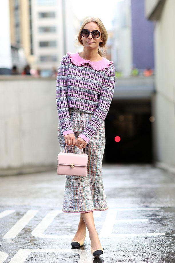 Moderni versio Chanel-mummosta.