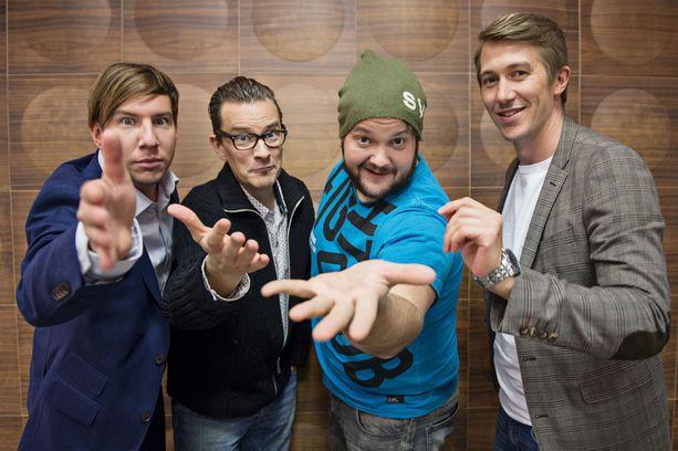 Aku Hirviniemi, André Wickström, Kalle Lamberg ja Jussi Vatanen ovat Saturday Night Liven vakiokasvoja.