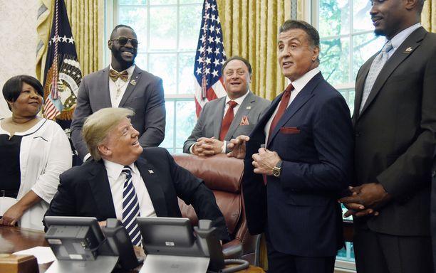 Donald Trump ja Sylvester Stallone tuntevat toisensa useiden vuosien takaa.