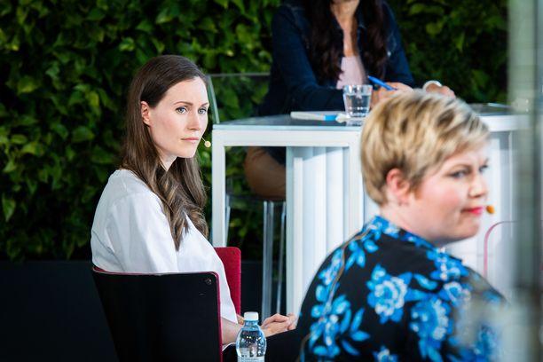 Löytävätkö pääministeri Sanna Marin ja valtiovarainministeri Annika Saarikko kuntavaalien jälkeen yhteisen sävelen hallituksessa?