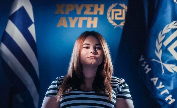 Ourania Michaloliakos opiskelee psykologiaa ja omistaa ison kasan Disney-filmejä.