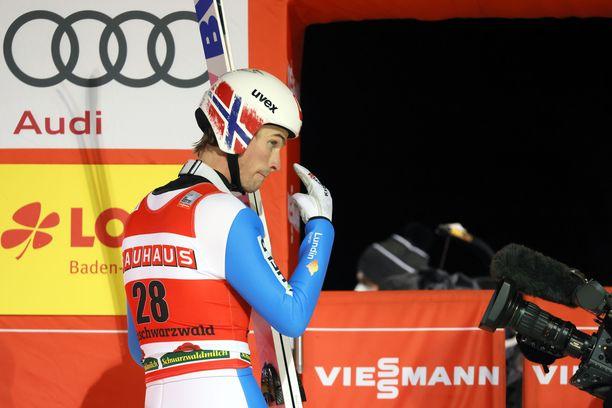 Norjan Daniel-Andre Tande oli eilen aivan umpisurkea ja heti perään tänään sijalla kaksi.