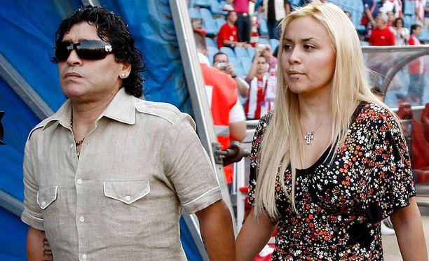 Diego Maradona ja Veronica Ojeda olivat yhdessä kahdeksan vuotta.