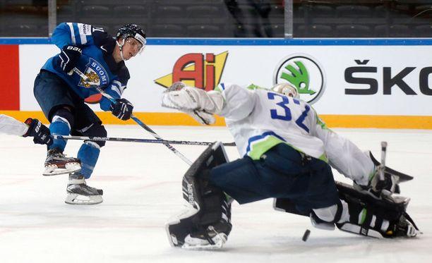 Antti Pihlström epäonnistui avopaikasta ensimmäisessä erässä.