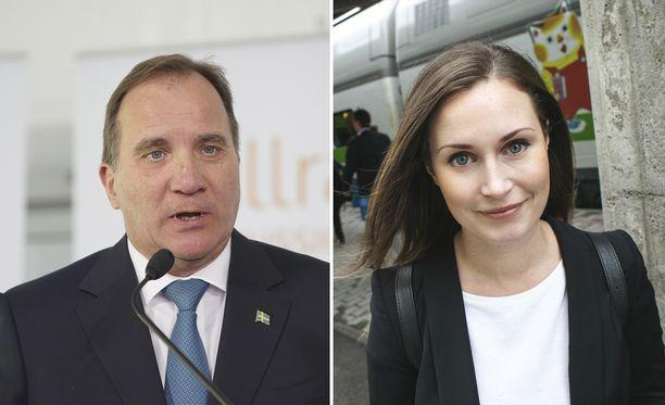 Suomen ja Ruotsin pääministerit ovat molemmat sosiaalidemokraatteja.