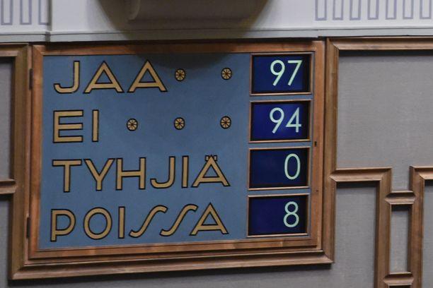 Täysistunnossa äänestäminen on ollut tähän saakka mahdollista vain paikan päällä.