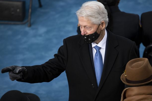 Bill Clinton osallistui Joe Bidenin virkaanastumisjuhlaan.
