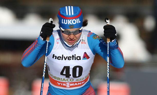 Alisa Zhambalova hylättiin Jällivaaran sprinttikilpailussa. Arkistokuva.