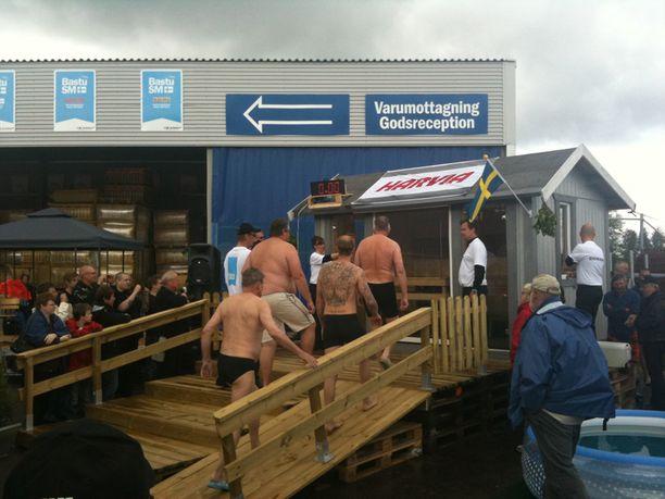 Eskilstunassa Ruotsissa pidettiin saunomiskilpailu.