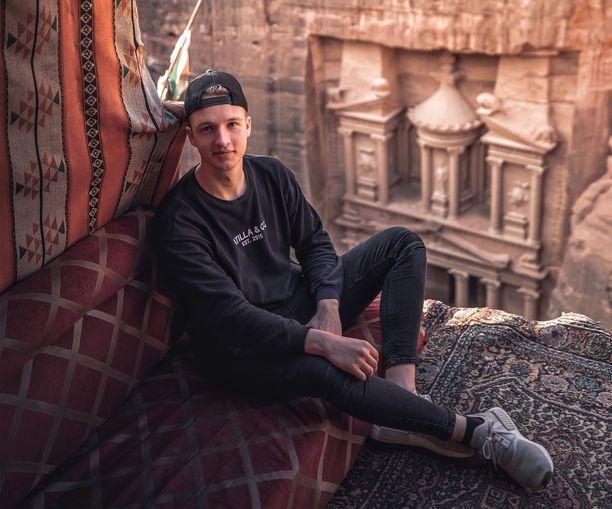 Julius Kähkösen intohimo on vienyt nuorukaisen esimerkiksi Jordaniaan.