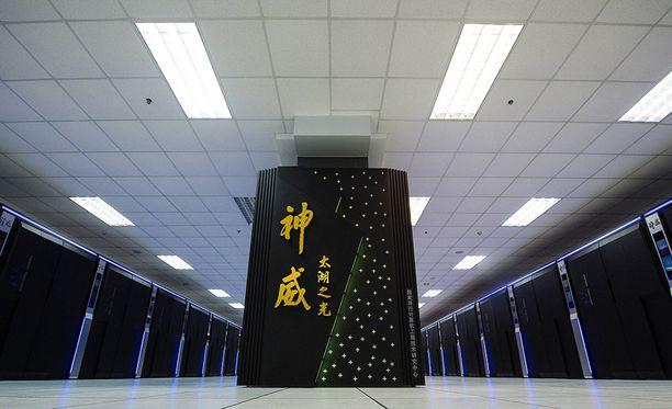 Maailman nopein tietokone on sijoitettu Kiinan kansalliseen supertietokonekeskukseen Wuxissa.