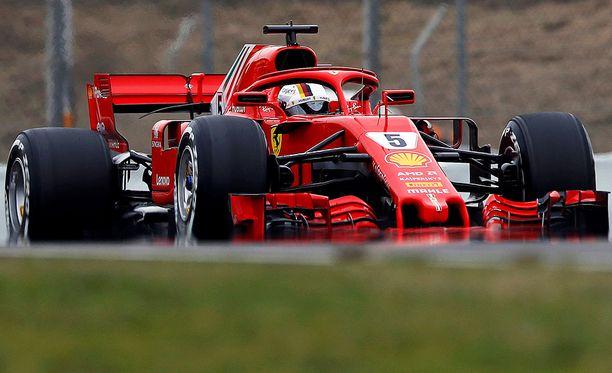 Sebastian Vettel paahtoi pohjat Montmelóssa.
