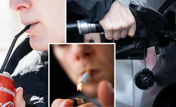 Muun muassa virvoitusjuomien, tupakan ja polttoaineiden verotus kiristyy.