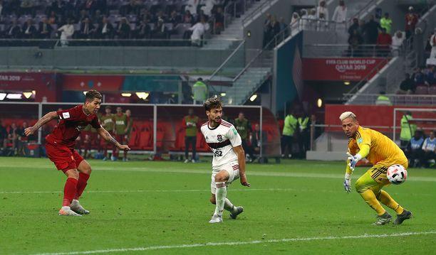 Roberto Firmino teki ottelun ainoan maalin.