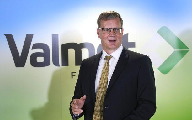 Valmetin toimitusjohtaja Pasi Laine. Arkistokuva vuodelta 2016,