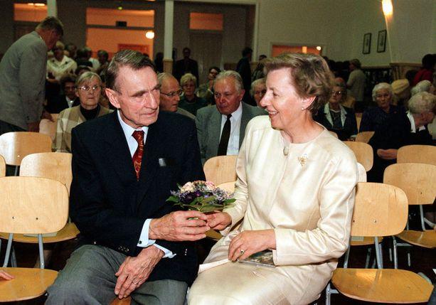 Mauno ja Tellervo Koivisto ovat olleet naimisissa jo 64 vuotta.