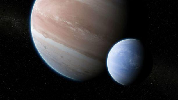Eksoplaneettoja on löydetty jo noin 3 500, mutta nyt havaittu kuu oli ensimmäinen aurinkokuntamme ulkopuolella. Kuvituskuva.