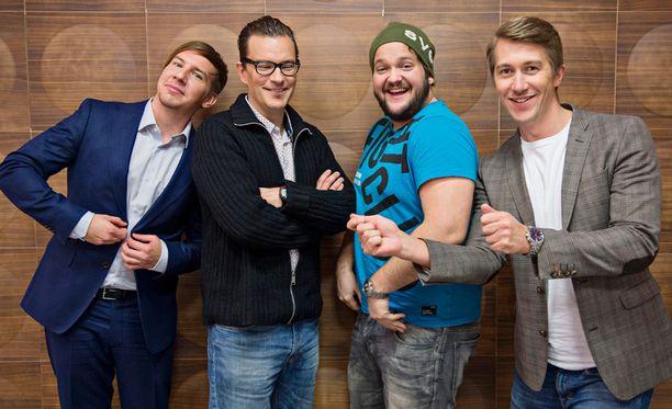 Aku Hirviniemi, André Wickström, Kalle Lamberg ja Jussi Vatanen eivät ole houkutelleet valtavia yleisömassoja SNL:n äärelle.