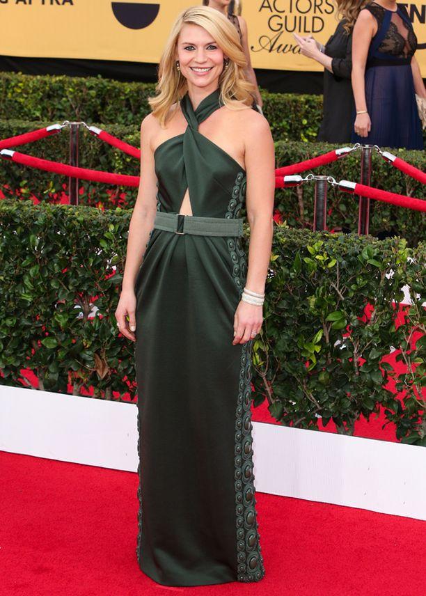 Claire Danes hehkui vihreässä.