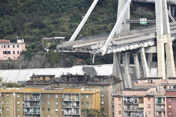 Romahtaneen sillan nimi on Morandi. Silta oli noin 50 vuotta vanha.