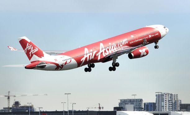 AirAsian kone oli Intian sisäisellä lennolla matkalla Guwahatista New Delhiin.