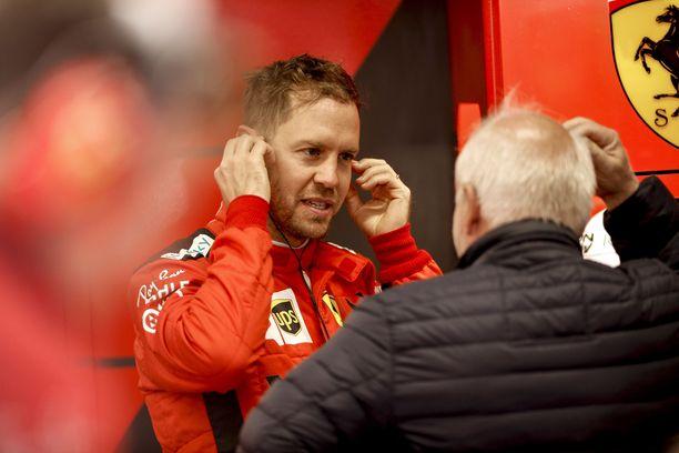 Sebastian Vettelillä riittää yhä paloa ajaa Ferrarilla.