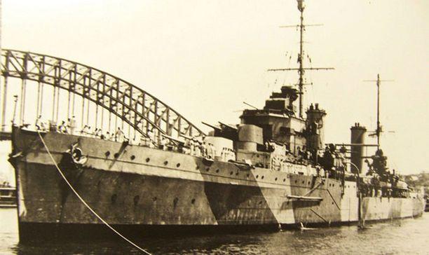 HMAS Sydney upposi vuonna 1941.