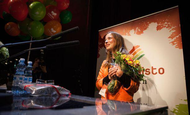 Li Anderssonista tuli vasemmistoliiton uusi puheenjohtaja.