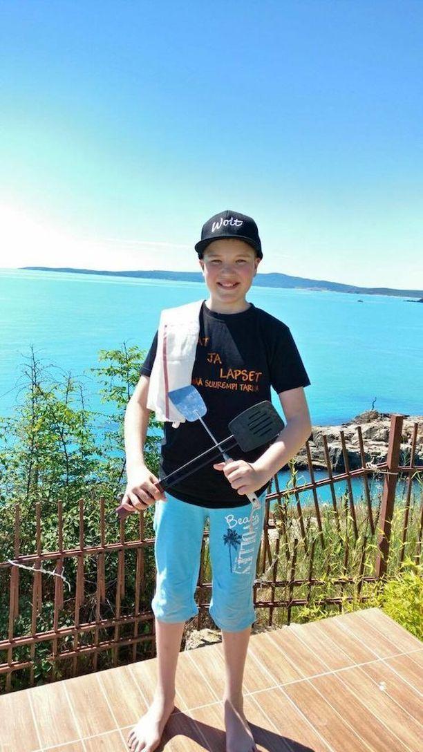 Nuori pizzantekijä Mico Vanhanen lomailee tällä hetkellä Bulgariassa.