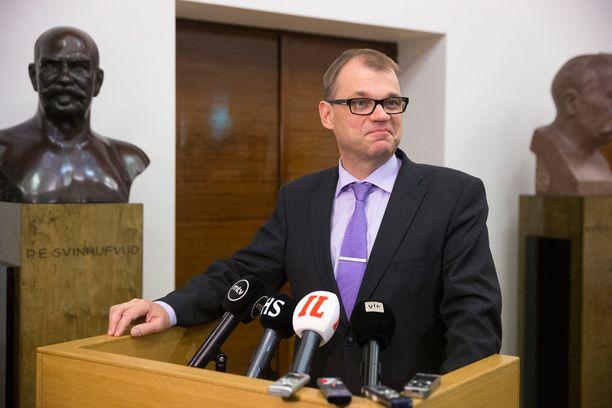 Juha Sipilällä ei ollut tiistai-iltana juurikaan uutta kerrottavaa.