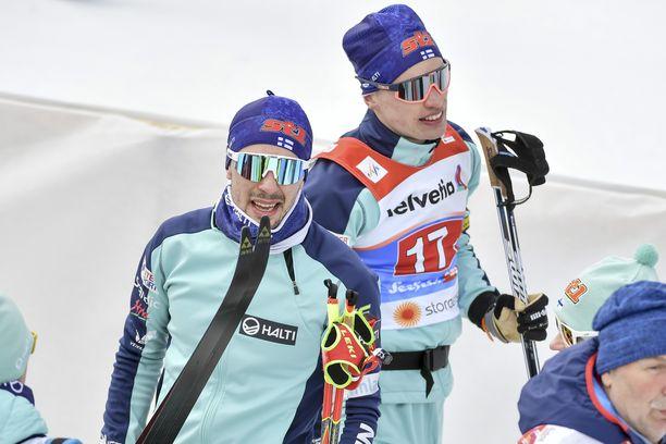 Ristomatti Hakola (vas.) ja Iivo Niskanen pettyivät pahasti pyhänä Alpeilla.