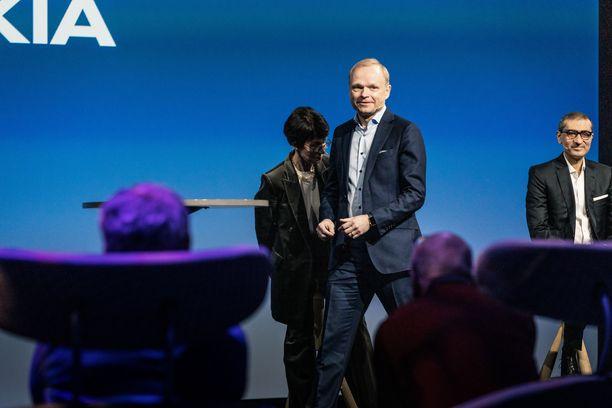 Nokian vasta valittu toimitusjohtaja Pekka Lundmark tiedotustilaisuudessa 2.3.2020.