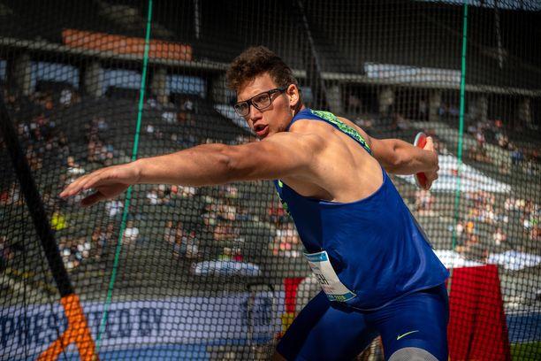 Slovenian Kristjan Ceh, 22, voitti heinäkuussa Tallinnassa nuorten EM-kultaa.