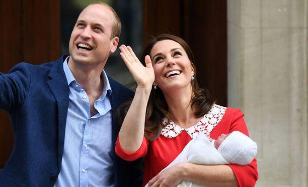 William ja Catherine hehkuivat onnea.