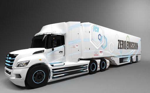 Ensimmäinen  raskaan sarjan vetykuorma-auto Toyotalta tien päälle keväällä  2021