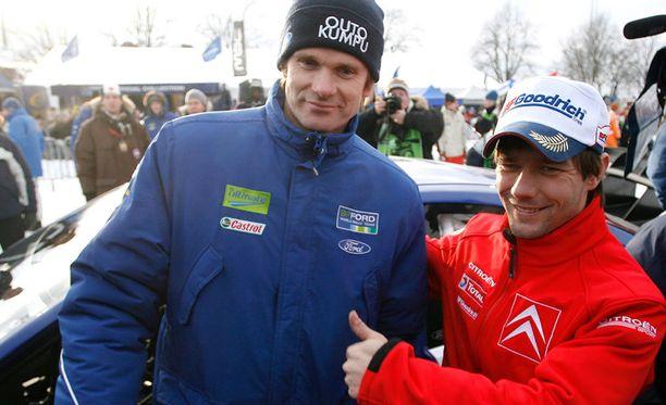 Marcus Grönholm ja Sebastien Loeb kävivät tiukan taistelun maailmanmestaruudesta vuosina 2006-2007.