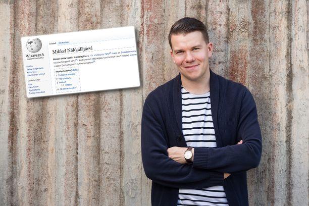 Monet halusivat kirjoittaa Mikkel Näkkäläjärven Wikipedia-sivulle.