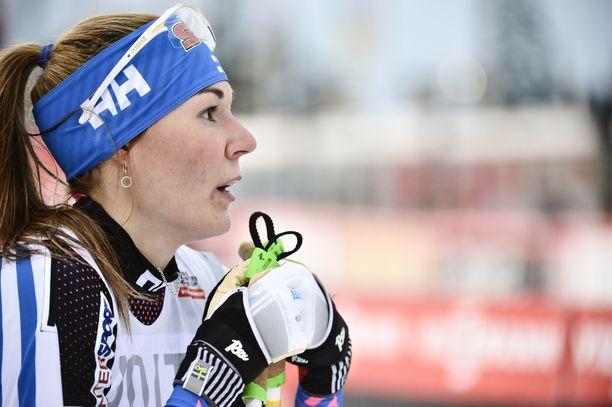 Mona-Liisa Nousiainen oli parhaimmillaan arvokisoissa sijalla seitsemän.