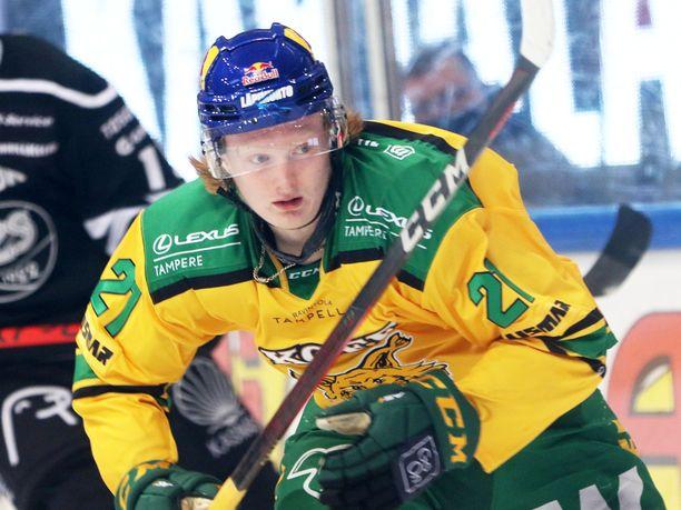 Roby Järventie on tehnyt tällä kaudella SM-liigassa 19 ottelussa tehot 7+7=14.