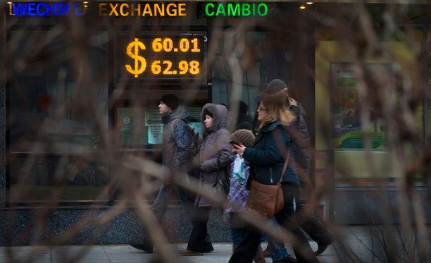 Euroja rupliin vaihtavalle kurssi on yleensä parempi Pietarissa.