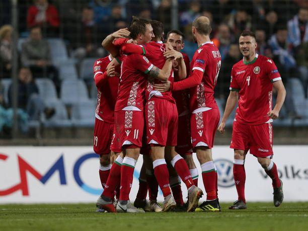 Valko-Venäjä varmistaa jatkopaikkansa Kansojen liigassa pelaamalla tasan San Marinoa vastaan.
