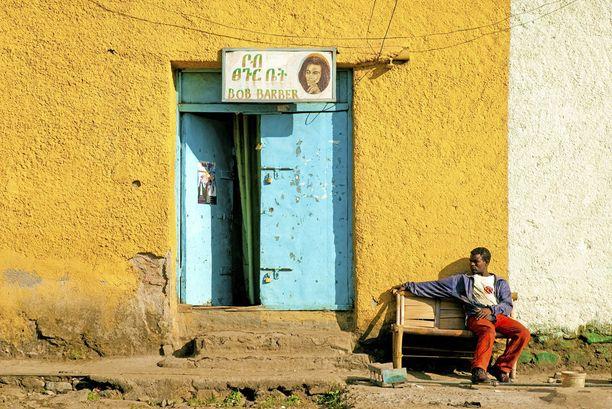 Parturiliike Gonderin kaupungissa Pohjois-Etiopiassa.