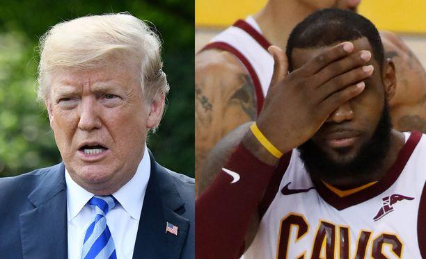 Donald Trump ja LeBron James eivät ole ylimpiä ystävyksiä.