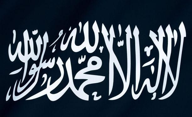 Terroristijärjestön lippu.