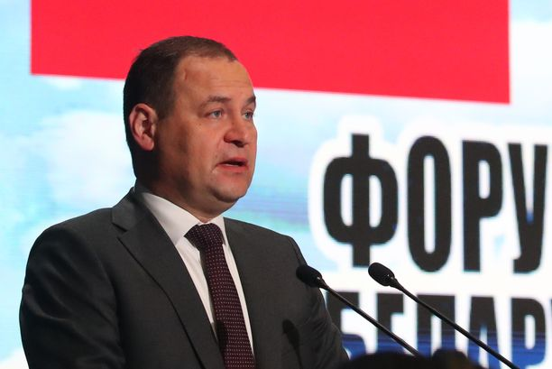 Valko-Venäjän pääministeri Roman Golovtshenko kovensi puheitaan.