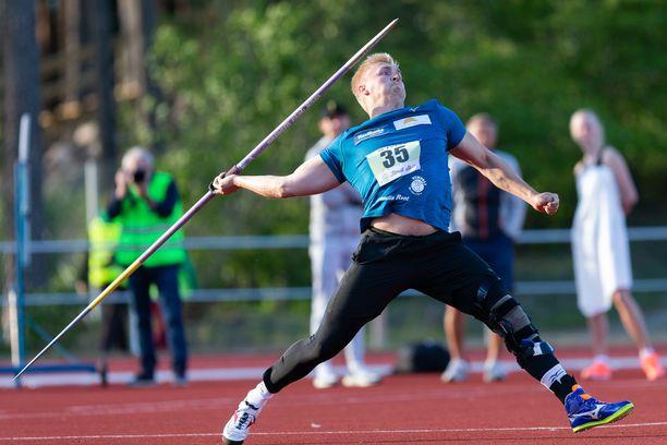 Toni Kuusela nakkasi tiistaina Orimattilassa 85,03.