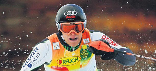 Kalle Palander pujotteli viimeksi toissa sunnuntaina Adelbodenissa.