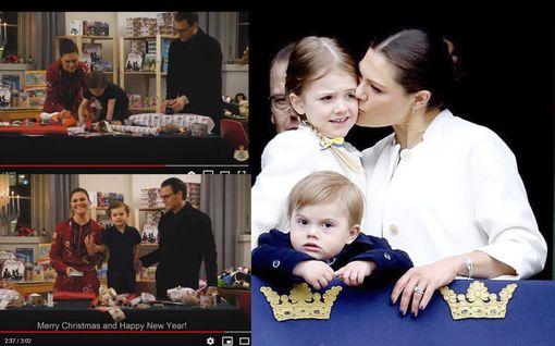 Prinssi Oscar, 4, ja prinsessa Estelle, 8, auttavat vähävaraisia perheitä – jouluinen video